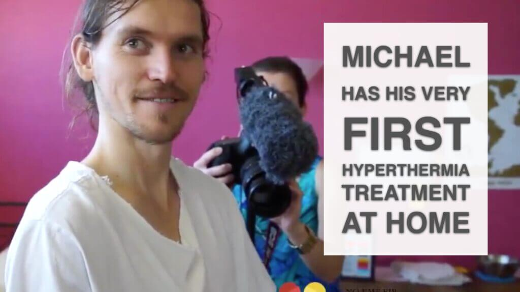 Michael Has His First Hyperthermia Treatment At Home