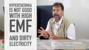 Hyperthermia with high EMF is not good